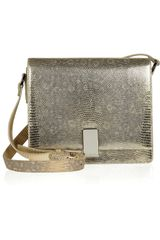 Ralph Lauren Collection Metallic Lizard Shoulder Bag - Lyst