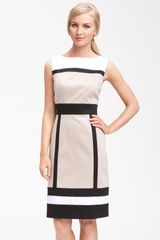 Tahari By Arthur S. Levine Sleeveless Colorblock Sheath Dress - Lyst