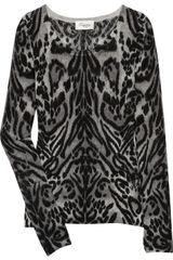 Temperley London Animal-print Merino Wool Sweater - Lyst
