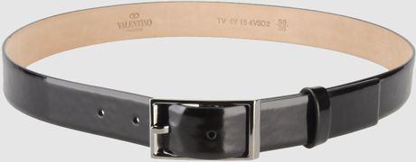 Valentino Leather Belt in Black for Men - Lyst