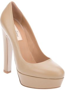 Valentino Leather Pump - Lyst