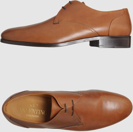 Valentino Laced Shoes in Brown for Men - Lyst