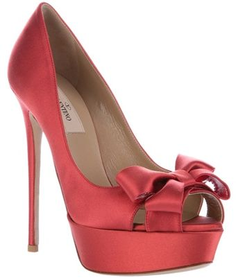 Valentino Bow Detail Shoe - Lyst