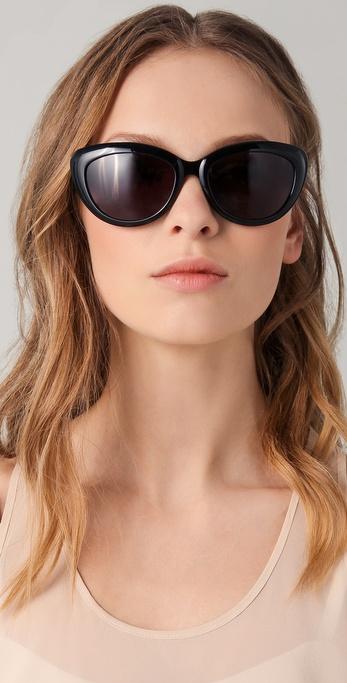 c238e30b5583 Saint Laurent Rounded Cat Eye Glasses in Black - Lyst