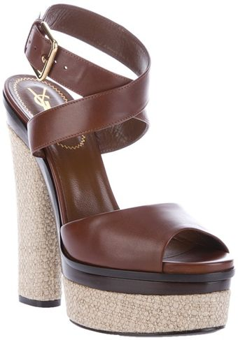 Yves Saint Laurent Gianduia Sandal - Lyst