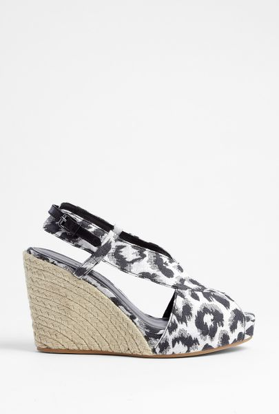 3 1 Phillip Lim Cotton And Jute Espadrille Wedges In Gray