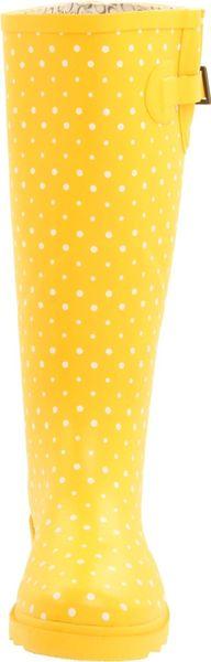 Chooka Posh Dots Rain Boots In Yellow Lyst
