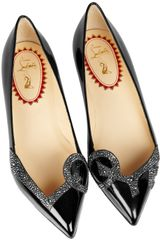 Christian Louboutin 20th Anniversary Pigalove Patentleather Ballet Flats in Black - Lyst