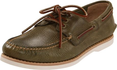 Frye Mens Sully Boat Boat Shoe in Green for Men (olive) - Lyst