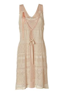 Hoss Intropia Ivory and Tea Rose Double Layer Knit Dress - Lyst