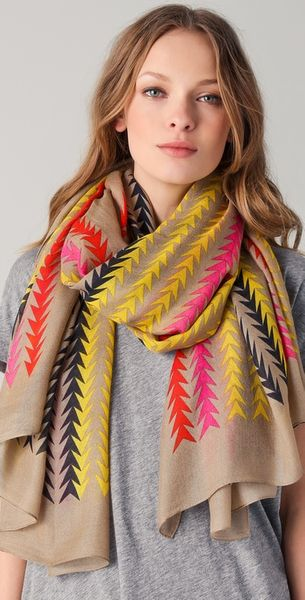 Marc By Marc Jacobs Arrowhead Stripe Scarf - Lyst