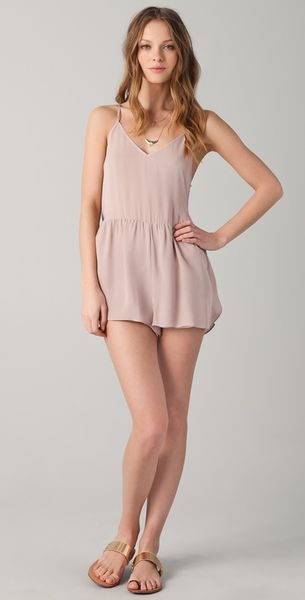 Mason By Michelle Mason Romper in Pink (blush) - Lyst
