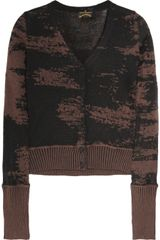 Vivienne Westwood Anglomania Wool and Cotton Blend Cardigan - Lyst