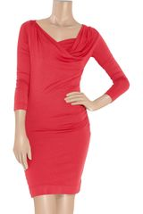 Vivienne Westwood Anglomania Loxo Stretchjersey Dress in Red - Lyst