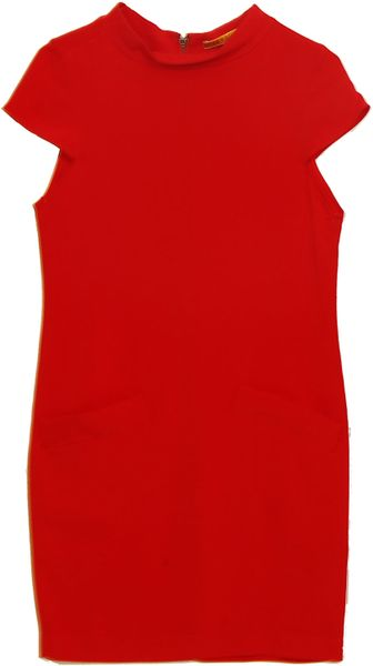 Alice + Olivia Alice Olivia Diaz Boxy Shift Dress in Red - Lyst