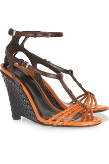 Burberry Prorsum Braided and Woven Leather Sandals - Lyst