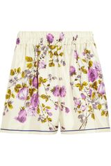 D&G Floralprint Silk Shorts - Lyst