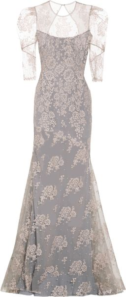 Erdem Pandora Lace Gown in Gray (rose) - Lyst
