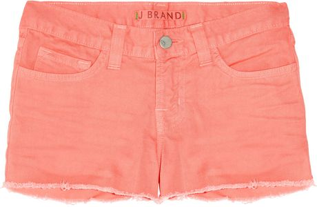 J Brand Lowrise Denim Cutoff Shorts in Orange (denim) - Lyst