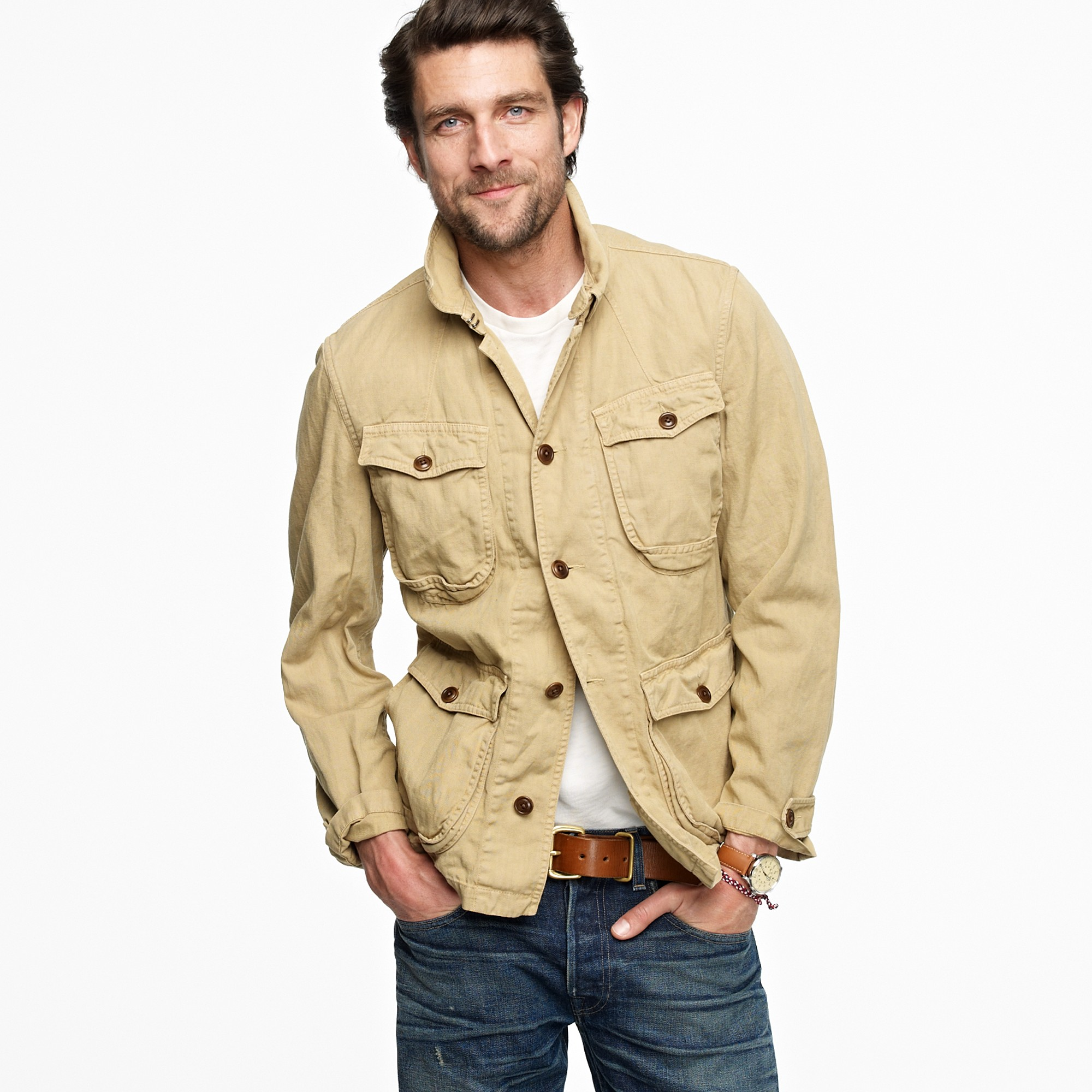 J Crew Wallace Barnes Northfield Jacket In Natural For Men