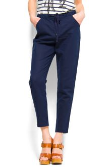 Mango Loosefit Trousers - Lyst