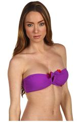 Marc By Marc Jacobs Santiago Floral Bandeau Bra Top in Purple (b) - Lyst