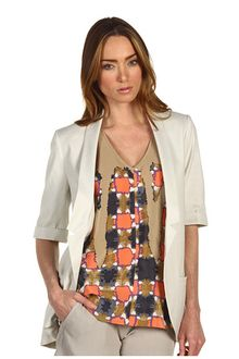 Tibi Stretch Linen Twill Jacket - Lyst