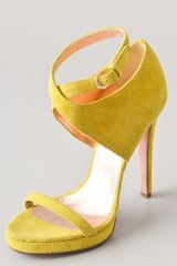 Viktor & Rolf Suede High Heel Sandals - Lyst