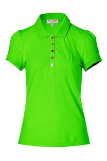Juicy Couture Spring Green Puff Sleeve Polo Shirt - Lyst