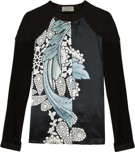 Preen Faithful Print Shirt in Blue - Lyst