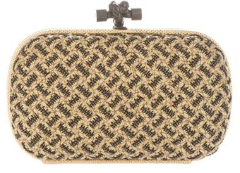 Bottega Veneta Structured Clutch - Lyst