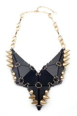Eaburns Studded Stegosaurus Necklace in Black in Gold (black) - Lyst