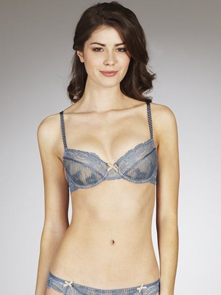 Elle Macpherson Intimates Picturesque Balcony Bra Blue in Blue - Lyst