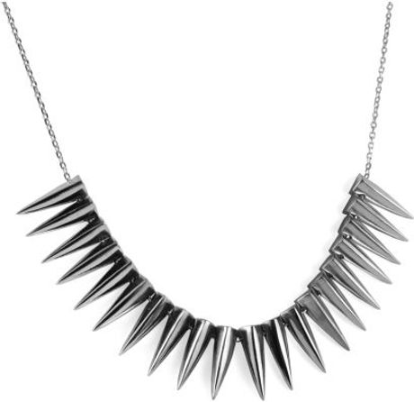 Emilie Morris Spike Necklace Silver  in Silver - Lyst