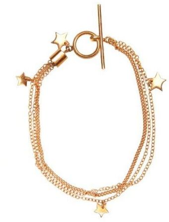 Emma Guest Jewellery Rose Gold Star Bracelet - Lyst