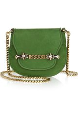 Gucci Tigrette Suede Shoulder Bag - Lyst