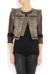 Isabel Marant Wolf Embellished Cotton Vest in Black - Lyst