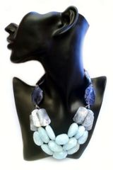 La Diosa Kezen Necklace in Blue (aquamarine) - Lyst