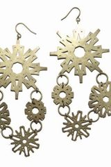 Mademoiselle Felee Etoile Earrings Gm Bronze - Lyst