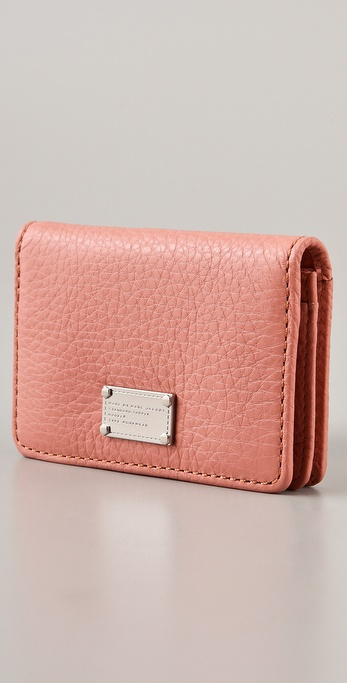 Lyst marc by marc jacobs classic q business card wallet in pink gallery colourmoves