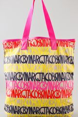 Marc By Marc Jacobs Packables Linear Logo Shopper - Lyst