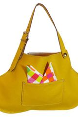 Soffio Di Sofia Picnic Tote Bag Brown And Yellow in Brown - Lyst