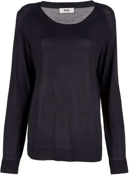 Acne Loose Pullover in Black - Lyst