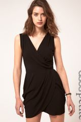 ASOS Collection Asos Petite Sleeveless Wrap Dress - Lyst