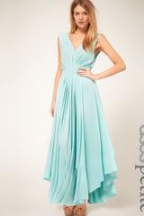 ASOS Collection Asos Petite Exclusive Maxi Dress with Dipped Godess Hem - Lyst