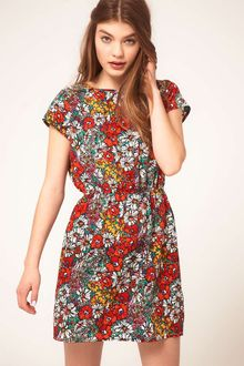 ASOS Collection Asos Skater Dress in Floral Print - Lyst