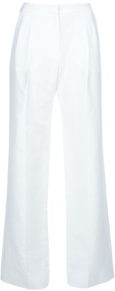 Balenciaga Wide Leg Trouser in White - Lyst