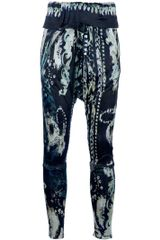Balmain Harem Trouser in Blue - Lyst