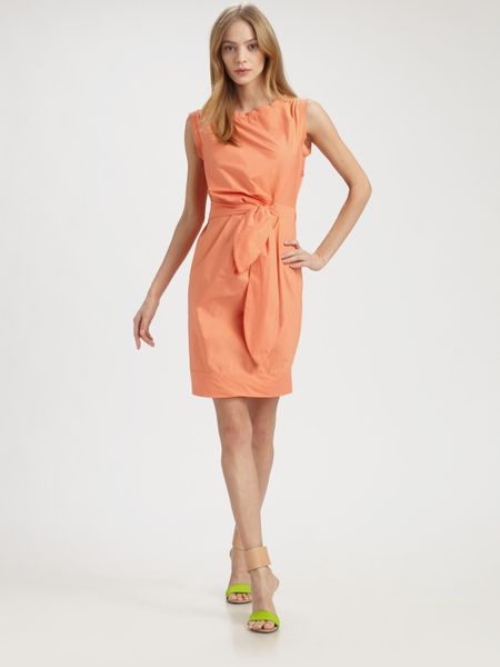 Diane Von Furstenberg New Della Dress in Orange (black) - Lyst