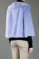 Dior Mink Fur Jacket in Blue - Lyst